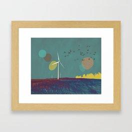 Go placidly Framed Art Print