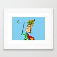 samurai Framed Art Prints featuring SAMURAI by Joe Pansa