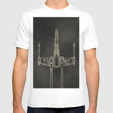 X-Wing Fighter White Mens Fitted Tee MEDIUM