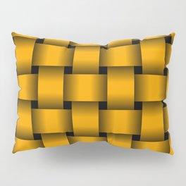 Large Orange Weave Pillow Sham