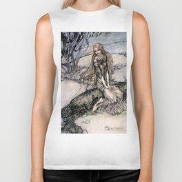 "Arthur Rackham Fairy Art from ""Undine"" Biker Tank"