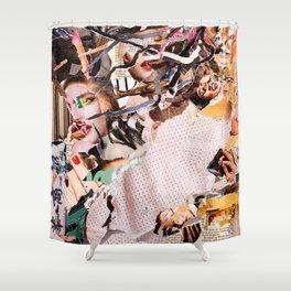 Medusa - Magazine Collage Shower Curtain