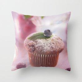 Sweet fruit muffin fine  Throw Pillow