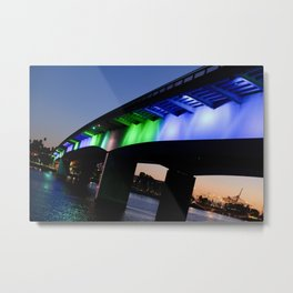 Light the bridge. Metal Print
