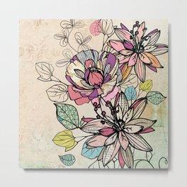Paper Flowers #6 Metal Print