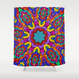 joy and energy -4- Shower Curtain