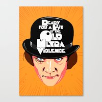 ultraviolence Canvas Prints featuring Ultraviolence! by Butcher Billy