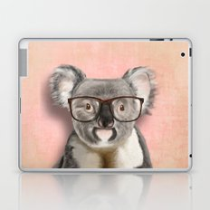 Funny koala with glasses Laptop & iPad Skin