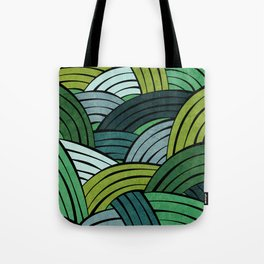 Lines - Green Tote Bag