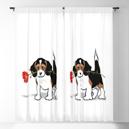 The Love Puppy — Flower Blackout Curtain
