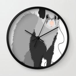 Funny Music Loving Ferret Wall Clock
