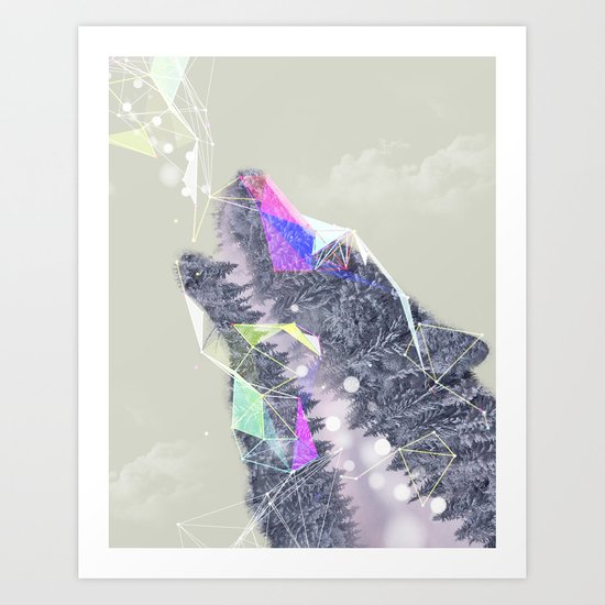 Cry Wolf Art Print