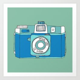 Holga Camera in Blue Art Print