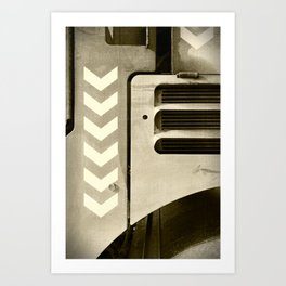 Road Roller Chevron 05 - Industrial Abstract Art Print