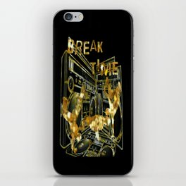 Break Time (black and gold vers.) iPhone Skin