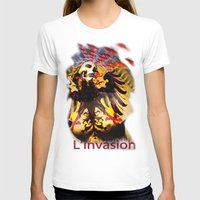 madonna T-shirts featuring L'invasion Madonna by RIGOLEONART