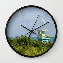 Lifegard Station At South Beach Miami Wall Clock