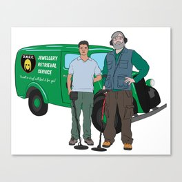Russell & Hugh Jewellery Retrieval Service - DMDC - Detectorists Canvas Print