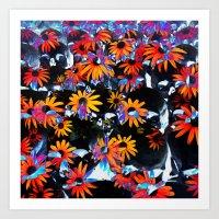 skullflowers Art Print