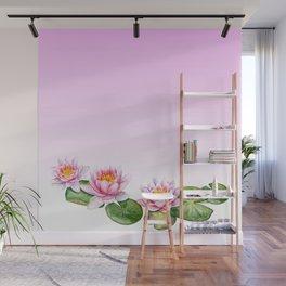 Watercolor Lotus Wall Mural