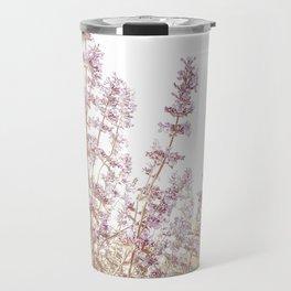 Soft Pink Wild Summer Flowers Travel Mug