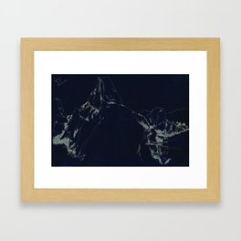 Yosemite Glacier Point Drawing Framed Art Print