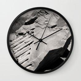 Dynamite Rock Quarry Boulder Oregon Landscape Sepia Geology Geomtric Rock Wall Clock