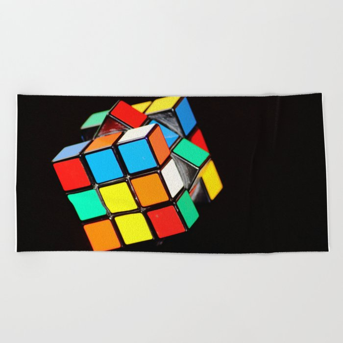 Cubic Cube Beach Towel