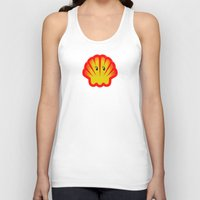 ghost in the shell Tank Tops featuring Look! There is a Ghost  in the Shell! by Chris Dk