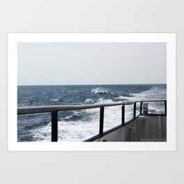 Wave Break Art Print