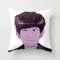 johannathemad Throw Pillows featuring Chanyeol by JohannaTheMad