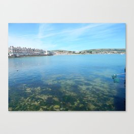 Swanage Sea Canvas Print
