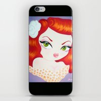 rockabilly iPhone & iPod Skins featuring Rockabilly Redhead by Little Bunny Sunshine
