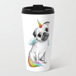 Pug unicorn Travel Mug