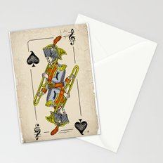 musical poker / trombone Stationery Cards