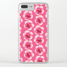 Pink hibiscus Clear iPhone Case