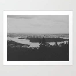 vancouver from cypress mountain. Art Print
