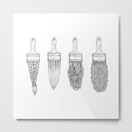 Brush type Metal Print