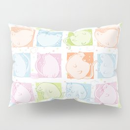 Cat Blobs Pillow Sham