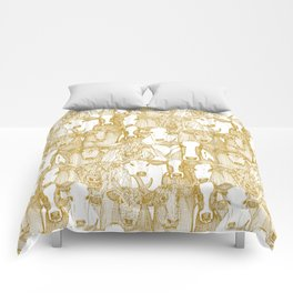 just cattle gold white Comforters