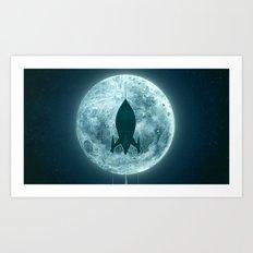 Moon Awakes Art Print