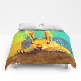 Tassel-eared Squirrel Comforters