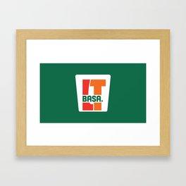BASA Eleven - Branding 24/7, Slurpee's not Included Framed Art Print