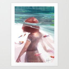 Under the water Art Print