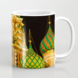Domes of St. Basil's Cathedral on red square Coffee Mug