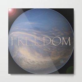 FREEDOM Sphere - BLACK Metal Print