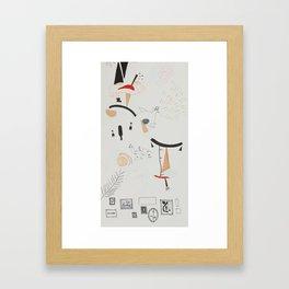 Coded III Framed Art Print