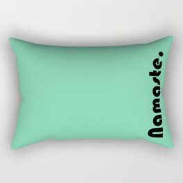 Namaste Yoga Print in Mint Green Rectangular Pillow