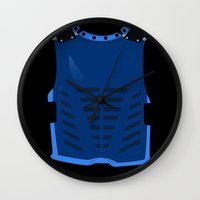 avenger Wall Clocks featuring The nocturnal avenger by ashleyrosed
