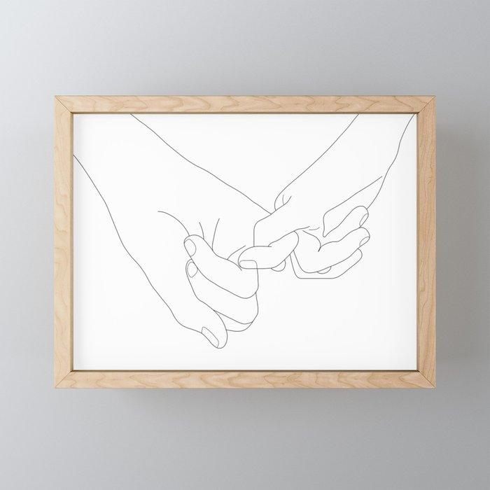 Pinky Promise Framed Mini Art Print